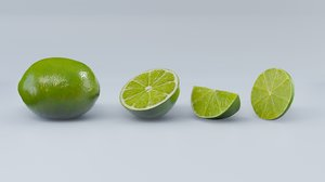 lime half slice 3D model