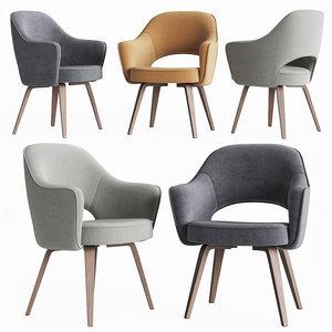 3D saarinen executive arm chair