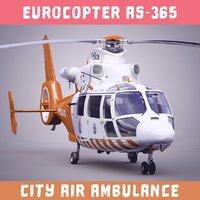 city helicopter eurocopter 365 3D