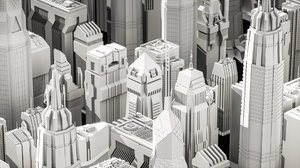 buildings tower polys 3D model