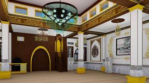 interior design mosque 3D model