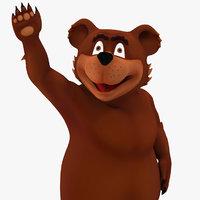 Cartoon Bear Rigged for Cinema 4D