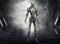 Robo Skeleton Cyborg Robot Full Character