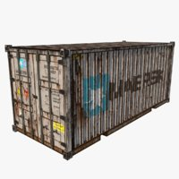 Maersk Worn Shipping Container