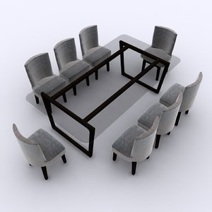 3D wooden dinning table