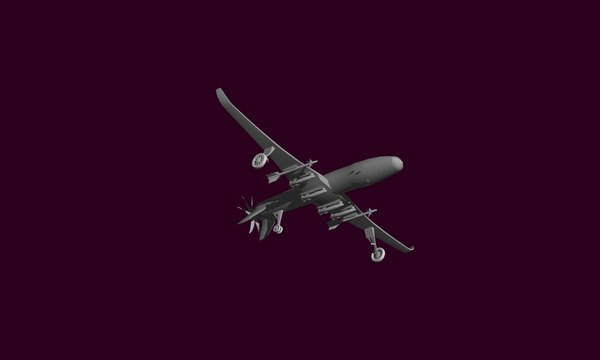 3D uav plane missiles model