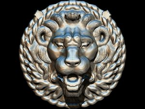 lion mask decorative maschera 3D