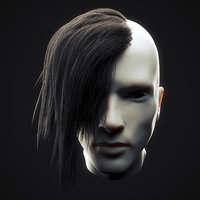 Undercut Hairstyle Low Poly 3