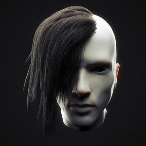 undercut hairstyle 3 model