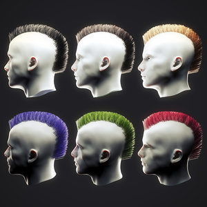 punk hairstyle 4 3D