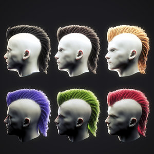 3D punk hairstyle 3