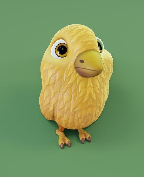 3D chicken cartoon model