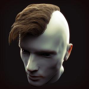 3D undercut hairstyle 1 model