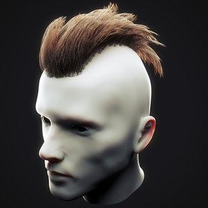 undercut hairstyle 4 3D