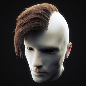 undercut hairstyle 2 3D model
