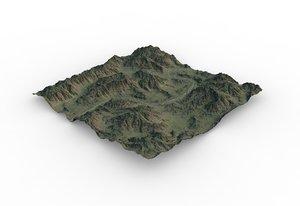 games terrain maps 3D model