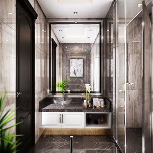 bathroom modern 3D model