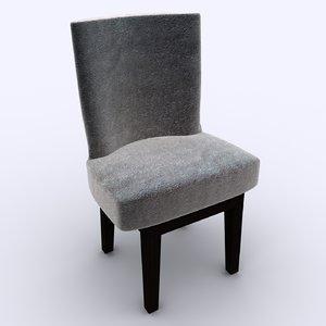 wooden dinning chair 3D model