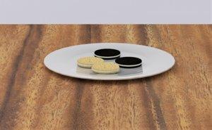 3D food breakfast
