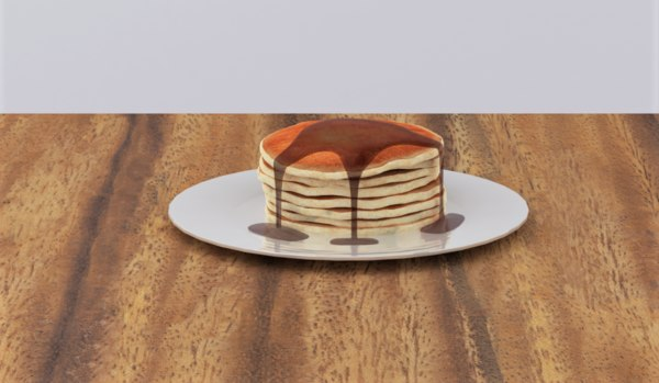 pancakes chocolate syrup model