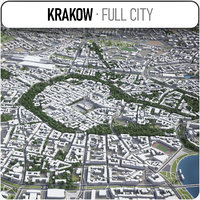 krakow surrounding - model