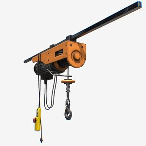 mini wire rope electric 3D model