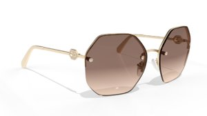 shades sunglasses gold model