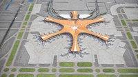 3D beijing daxing international airport model