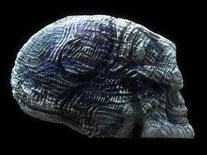 3D giger skull ultra hd