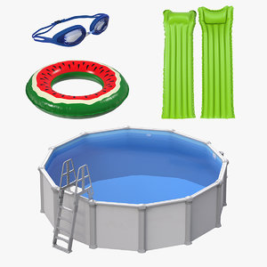 swimming pool accessories 3D model