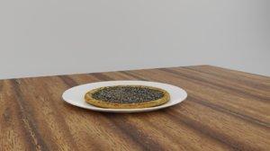 zatar cheese manakish 3D model