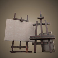 easel art 3D model