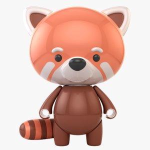 red panda toy 3D