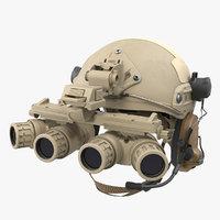 3D tactical helmet sand camo model