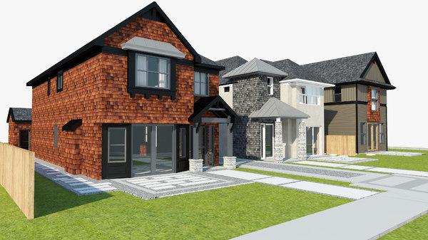 3D model realistic neighborhood