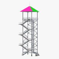 3D waterslide tower water slide