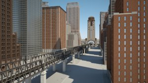 modern american metropolis 3D