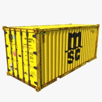 3D model shipping container msc