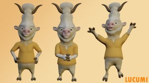 3D character animation model