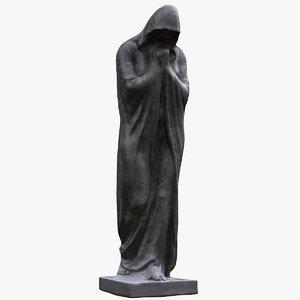 dark figure statue 3D