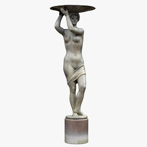 3D woman dish fountain