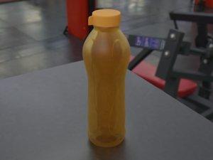 3D reusable plastic bottle