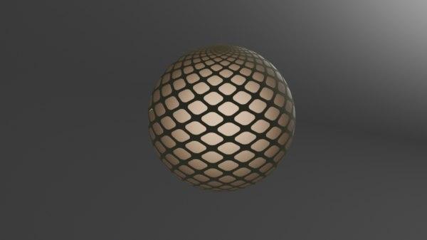 3D lamp fibonacci