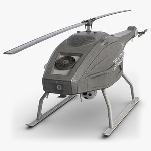 skeldar uav saab 3d model