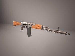 3D ak47 rifle kalashnikov model