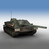 3D su-100 - tank model