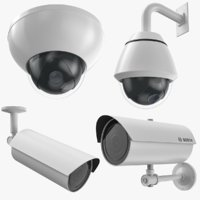 security cameras 3D