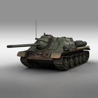su-85 - kapitan otakar 3D model