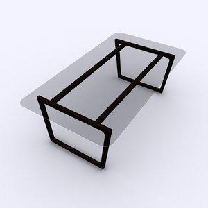3D model wooden dinning table