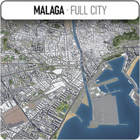 3D malaga surrounding - model